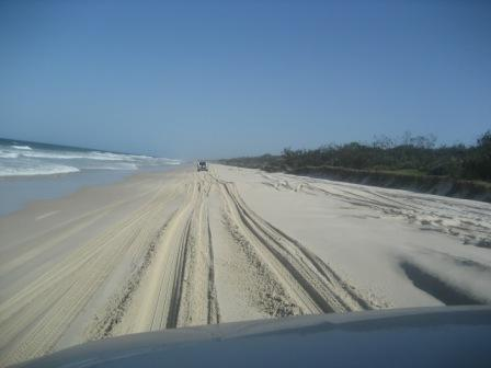 On the beach of Bribie Island