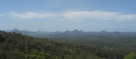 View on Glass House Mountains