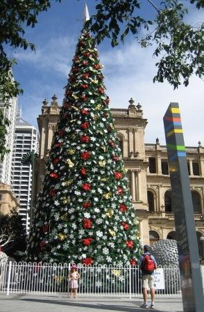 Christmas tree in Brisbane CBD