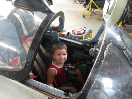 Pilot in Caboolture Warplane Museum.