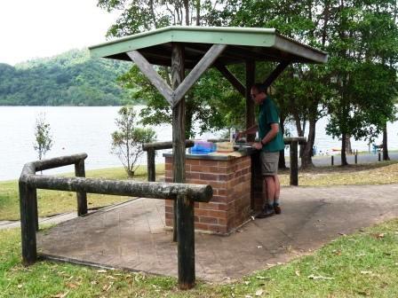 A barbecue at the Baroon Pocket Dam.