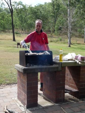 A wood burning BBQ in Bernakin State Forest.