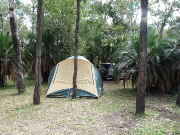 Our first Australian Camp in Takarrakka Bush Resort.