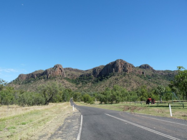 Mt Zamia and Virgin Rock (left small peak).