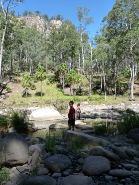 Start of the Canarvon Gorge Walking Track.
