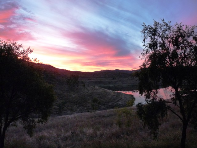 Lake Cania in the evening
