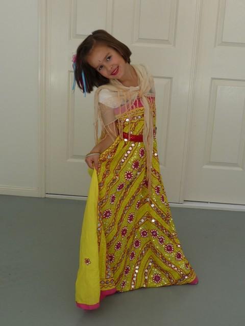 Nicole in Bollywood tenue.