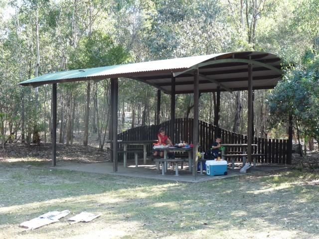 A BBQ in Karawatha Park.