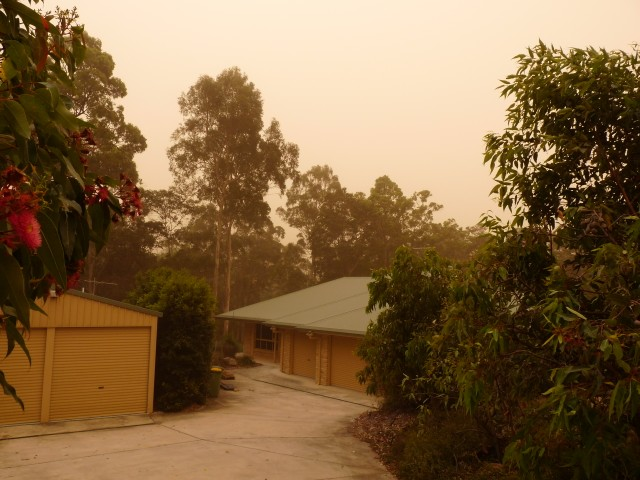 Our house in dust storm.